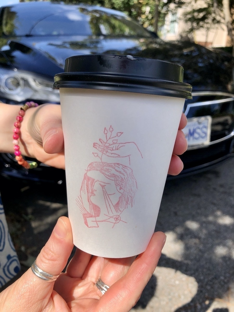 Federal Store stamp on take out cup